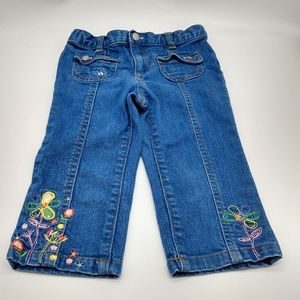 Wonderkids Toddler Jeans Embroidered 4T